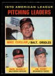 1971 O-Pee-Chee #69   -  Mike Cuellar / Dave McNally / Jim Perry AL Pitching Leaders   Front Thumbnail
