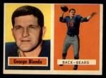 1957 Topps #31  George Blanda  Front Thumbnail