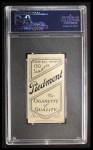 1909 T206 #308 POR Christy Mathewson  Back Thumbnail