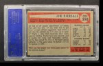 1954 Bowman #210  Jimmy Piersall  Back Thumbnail