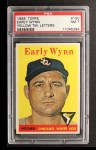 1958 Topps #100 *YT* Early Wynn  Front Thumbnail