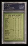 1971 Topps #331   -  Brooks Robinson 1970 World Series - Game #5 - B. Robinson Commits Robbery Back Thumbnail
