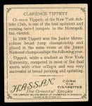 1910 T218 Champions #58  Clarence Tippett  Back Thumbnail