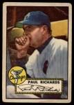 1952 Topps #305  Paul Richards  Front Thumbnail