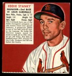 1952 Red Man #23 NLx Eddie Stanky  Front Thumbnail