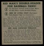 1952 Red Man #14 ALx Gil McDougald  Back Thumbnail