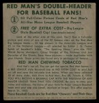 1952 Red Man #14 NLx Sal Maglie  Back Thumbnail