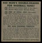 1952 Red Man #24 NLx Bobby Thomson  Back Thumbnail
