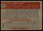 1952 Topps #337  Jim Hearn  Back Thumbnail
