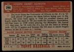 1952 Topps #290  Joe Astroth  Back Thumbnail