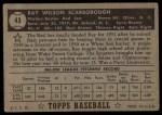 1952 Topps #43 BLK Ray Scarborough  Back Thumbnail