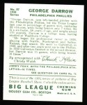 1934 Goudey Reprints #87  George Darrow  Back Thumbnail
