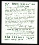 1934 Goudey Reprints #90  KiKi Cuyler  Back Thumbnail