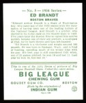 1934 Goudey Reprints #5  Ed Brandt  Back Thumbnail