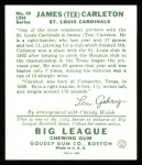 1934 Goudey Reprints #48  Tex Carleton  Back Thumbnail
