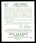 1934 Goudey Reprints #58  Earl Grace  Back Thumbnail