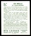 1934 Goudey Reprints #73  Ed Wells  Back Thumbnail