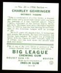 1934 Goudey Reprints #23  Charley Gehringer  Back Thumbnail