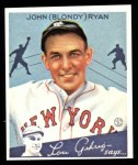 1934 Goudey Reprints #32  Blondy Ryan  Front Thumbnail
