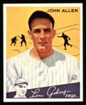 1934 Goudey Reprints #42  John Allen  Front Thumbnail