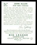 1934 Goudey Reprints #42  John Allen  Back Thumbnail