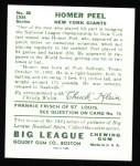 1934 Goudey Reprints #88  Homer Peel  Back Thumbnail