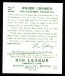 1934 Goudey Reprints #25  Roger Cramer  Back Thumbnail