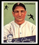 1934 Goudey Reprints #54  Wesley Schulmerich  Front Thumbnail