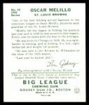 1934 Goudey Reprints #45  Oscar Melillo  Back Thumbnail
