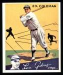 1934 Goudey Reprints #28  Ed Coleman  Front Thumbnail