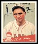 1934 Goudey Reprints #80  Marty McManus  Front Thumbnail
