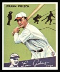 1934 Goudey Reprints #13  Frankie Frisch   Front Thumbnail