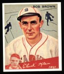 1934 Goudey Reprints #81  Bob Brown  Front Thumbnail