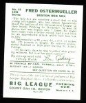1934 Goudey Reprints #93  Fred Ostermueller  Back Thumbnail