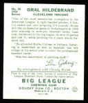 1934 Goudey Reprints #38  Oral Hildebrand  Back Thumbnail
