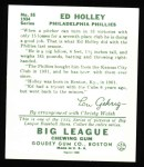 1934 Goudey Reprints #55  Ed Holley  Back Thumbnail