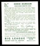 1934 Goudey Reprints #79  Eddie Durham  Back Thumbnail