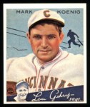 1934 Goudey Reprints #56  Mark Koenig  Front Thumbnail