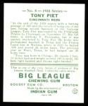 1934 Goudey Reprints #8  Tony Piet  Back Thumbnail