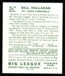 1934 Goudey Reprints #82  Bill Hallahan  Back Thumbnail