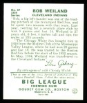 1934 Goudey Reprints #67  Bob Weiland  Back Thumbnail