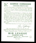1934 Goudey Reprints #41  George Earnshaw  Back Thumbnail