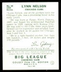 1934 Goudey Reprints #60  Lynn Nelson  Back Thumbnail