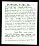 1934 Diamond Stars Reprints #11  Bill Dickey  Back Thumbnail