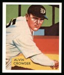 1934 Diamond Stars Reprints #93  Alvin General Crowder  Front Thumbnail