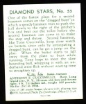 1934 Diamond Stars Reprints #55  Tony Cuccinello  Back Thumbnail