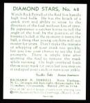 1934 Diamond Stars Reprints #48  Rick Ferrell  Back Thumbnail