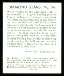 1934 Diamond Stars Reprints #79  Willis Hudlin  Back Thumbnail