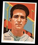 1934 Diamond Stars Reprints #91  Bucky Harris  Front Thumbnail