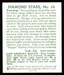 1934 Diamond Stars Reprints #26  Pepper Martin  Back Thumbnail